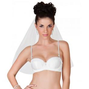 Affinitas Intimates Bridal Balconet Padded Bra Ivory Front
