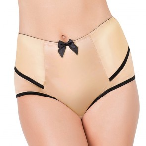 Affinitas Intimates Parfait Charlotte Full Brief Peach Black Front
