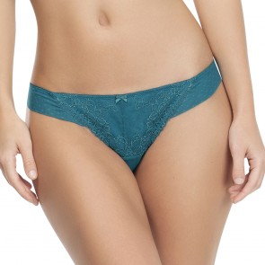 Affinitas Molly Thong Panty Teal Front