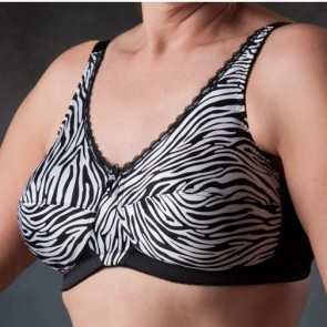 Nearly Me Zebra Soft Cup Mastectomy Bra Style 690