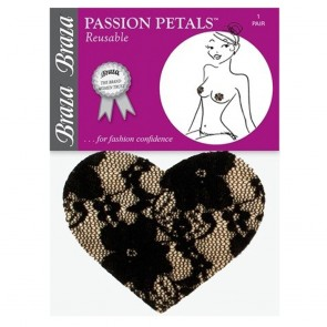 Braza Passion Petals Heart Shaped Lace Nipple Covers Package
