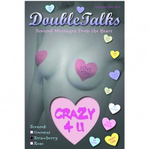 Bring It Up DoubleTalks CRAZY 4 U Heart Shaped Scented Nipple Covers