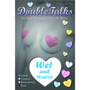 Bring It Up DoubleTalks Wet and Wasted Heart Shaped Scented Nipple Covers
