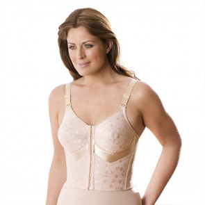 Elila Longline Posture Bra with Front Closure Nude Front
