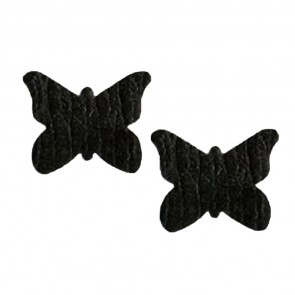 Pastease Butterfly Nipple Covers Black Crocodile