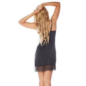 Rhonda Shear Sweet Tart Butterknit Lace Shelf Tank Night Gown Style 7903
