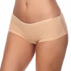 Timpa Cotton Low Cut Boyshort Nude Front