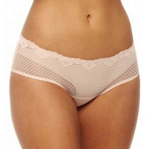 Timpa Duet Lace Shorty Boyshort Beige Front
