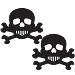 Pastease Black and White Skull Nipple Covers
