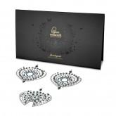 Bijoux Indiscrets Flamboyant Metallic Bronze Blue and Silver Crystal Nipple Pasties Package