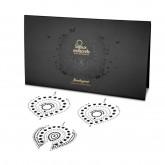 Bijoux Indiscrets Flamboyant Black and Silver Crystal Nipple Pasties Package