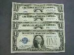 Lot: 3103 - (4) 1928A $1 SILVER CERTS SEQUENTIAL