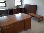 Lot: 202 - Desks, Chairs, Hanging Display, Coffee Table