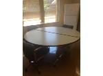 Lot: 89 - (2)1/2 Moon Tables
