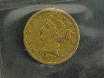 Lot: 3230 - 1851-C U.S. GOLD $5 DOLLAR COIN