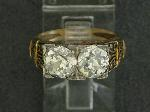 Lot: 947 - 14K DIAMOND RING