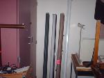 Lot: 15 & 16 - (3) Projector Screens & (5) VCR Players