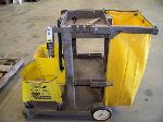 Lot: 188.BRYAN  - JANITOR CART, MOP BUCKET, INSTANT EASEL