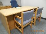 Lot: 78.HOUSTON2 - DESK, INDIANA DESK, ROLLING CHAIR, CHAIRS