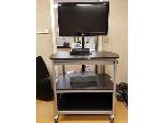 Lot: 09 - (2) TV Carts and TV with wheels