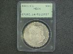 Lot: 1220 - 1884-CC MORGAN DOLLAR - PCGS MS 64