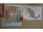 Lot: 34 & 35 - Wall Map, White Board, Typewriter, Projector, Paper Cutter & Toaster