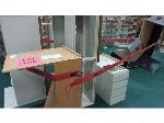 Lot: 105 - (4) Desks, (2) Hutches & File Cabinet