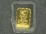 Lot: 1514 - 1 GRAM FINE GOLD CAPITAL BANK