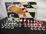 Lot: A5265 - Factory Sealed Art-Deco Porcelain Chess Set