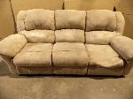 Lot: A5314 - Affordable Furniture Suede Sofa Recliner