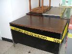 Lot: H25 & H26.LAFERIA - (APPROX 4)WOOD TABLES & (APPROX 7 ) SAYNO SMALL TVS