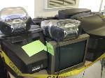 Lot: H27 & H28.LAFERIA - (APPROX 4) DESKS & (APPROX 10) TVS, RADIOS & CLOCK