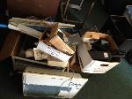 Lot: WF09 & WF10.BROWNSVILLE - SHREDDER, TYPEWRITERS, BATTERY, MICROWAVE, URINAL, SOAP DISPENSER, METAL CART & PAPER DISPENSERS