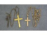 Lot: 1835 - 10K CROSS PENDANT