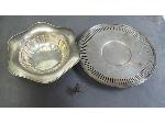 Lot: 1839 - SILVER RING & STERLING SERVING BOWL