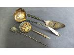 Lot: 1848 - SILVER OLIVE SPOON