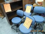 Lot: 71.HOUSTON - (4) LAB STOOLS AND A BOOKSHELF