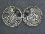 Lot: 1896 - (2) AMERICAN PROSPECTOR 1 OZ. SILVER ROUNDS