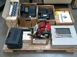 Lot: 412.AUSTIN - Intoximeters, Tint Meters, Honda Pump, Copper Cable Sample, Alarm Controller, Patch Bay Strips, Radiological Dosimeter Chargers