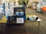 Lot: 456 - (1 BIN) BOOMBOXES, TAPE RECORDERS