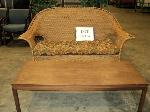 Lot: 17-164 - Patio Couch & Table