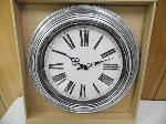 "Lot: A5395 - Factory Sealed 20"" Home Decor Silver Clock"