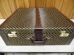 Lot: A5396 - Factory Sealed Leather Lockable Suitcase