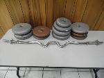 Lot: A5400 - Group of Weights 121lbs. plus Curl Bar