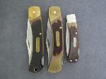 Lot: 3351 - (3) OLD TIMER LOCK BLADE KNIVES