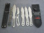 Lot: 3367 - (6) ASSORTED THROWING KNIVES
