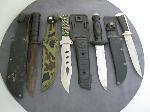 Lot: 3369 - (4) FIXED BLADE KNIVES