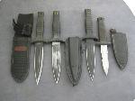 Lot: 3370 - (4) BLACK BOOT KNIVES
