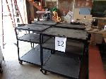 Lot: 12 & 13 - (6) Electrical Carts