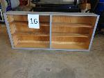 Lot: 16 & 17 - Shelving unit / Bookcase & Table